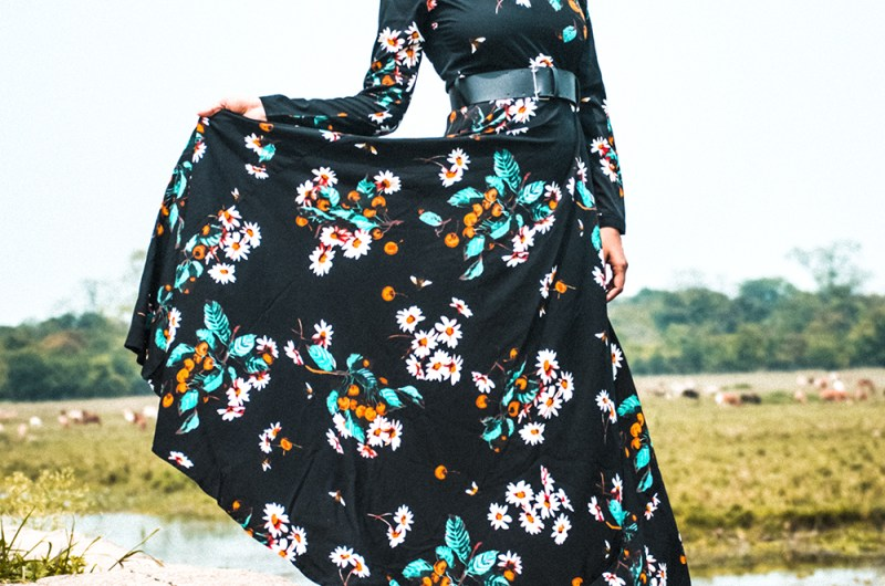 Floral Dresses, Fashion, Style, Fashion Blogger, Maxi Dress, Street Style, winter fashion-5