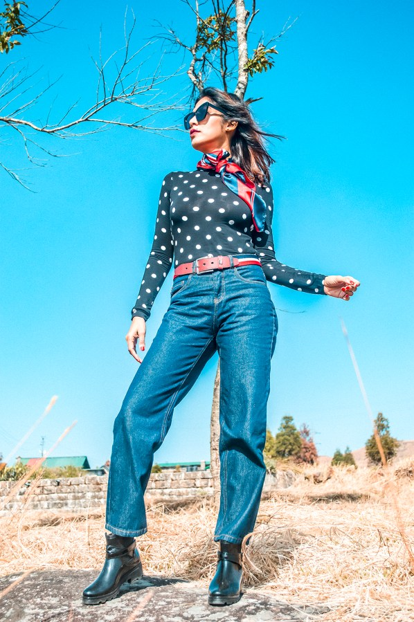 Polka, Fashion, Outfit, Street Style, Fashion Influencer, Indian Blogger, Fashion Photography, Sarmistha Goswami, Style-5