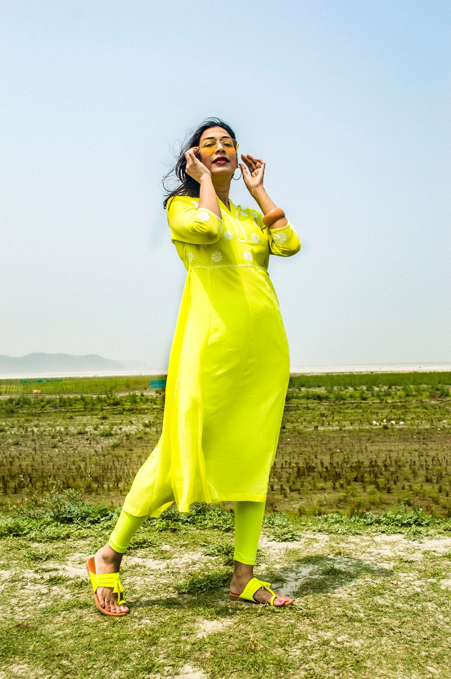 Spring style, Indian Wear, neon color, neon green, Indian outfit, Indian Blogger, Fashion, Style, Indian Fashion Blogger-5