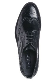 Soldini black leather lace-ups