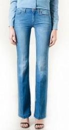 Slightly flared denim trousers copy