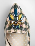 Boden TWEED EMBELLISHED SLIPPER