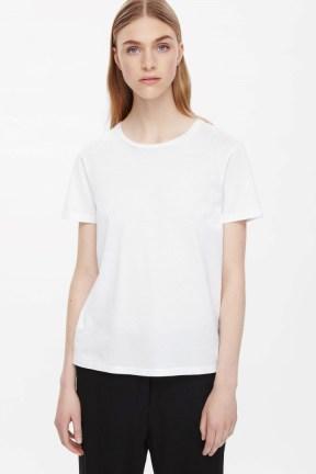 COS NEAT-FIT COTTON T-SHIRT white