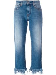 Jeans with freyed bottom