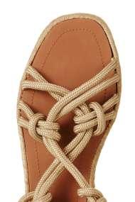 TOPSHOP FABRIC Tie Sandals natural (detail)