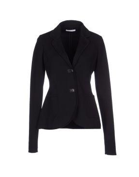 GENTRYPORTOFINO Cotton jersey blazer in black