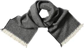 bold-herringbone-scarf ecru/charcoal