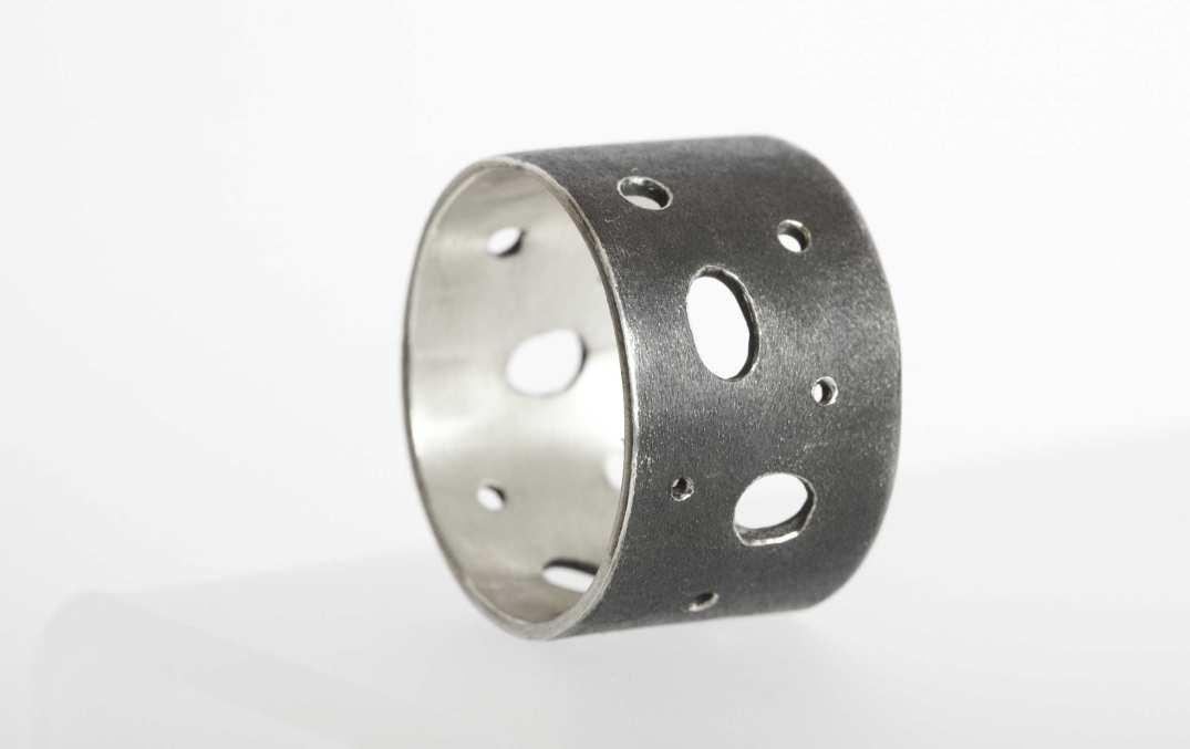 Swiss Cheese Ring (Oxidised Outer)
