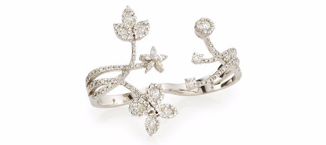 Yeprem double finger diamond ring