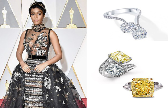 Janelle Monáe sizzles in not one but two Forevermark Exceptional diamond rings. Multiple diamond ring is one of the biggest red carpet trend of this season. PC- ForeverMark And StylePrer