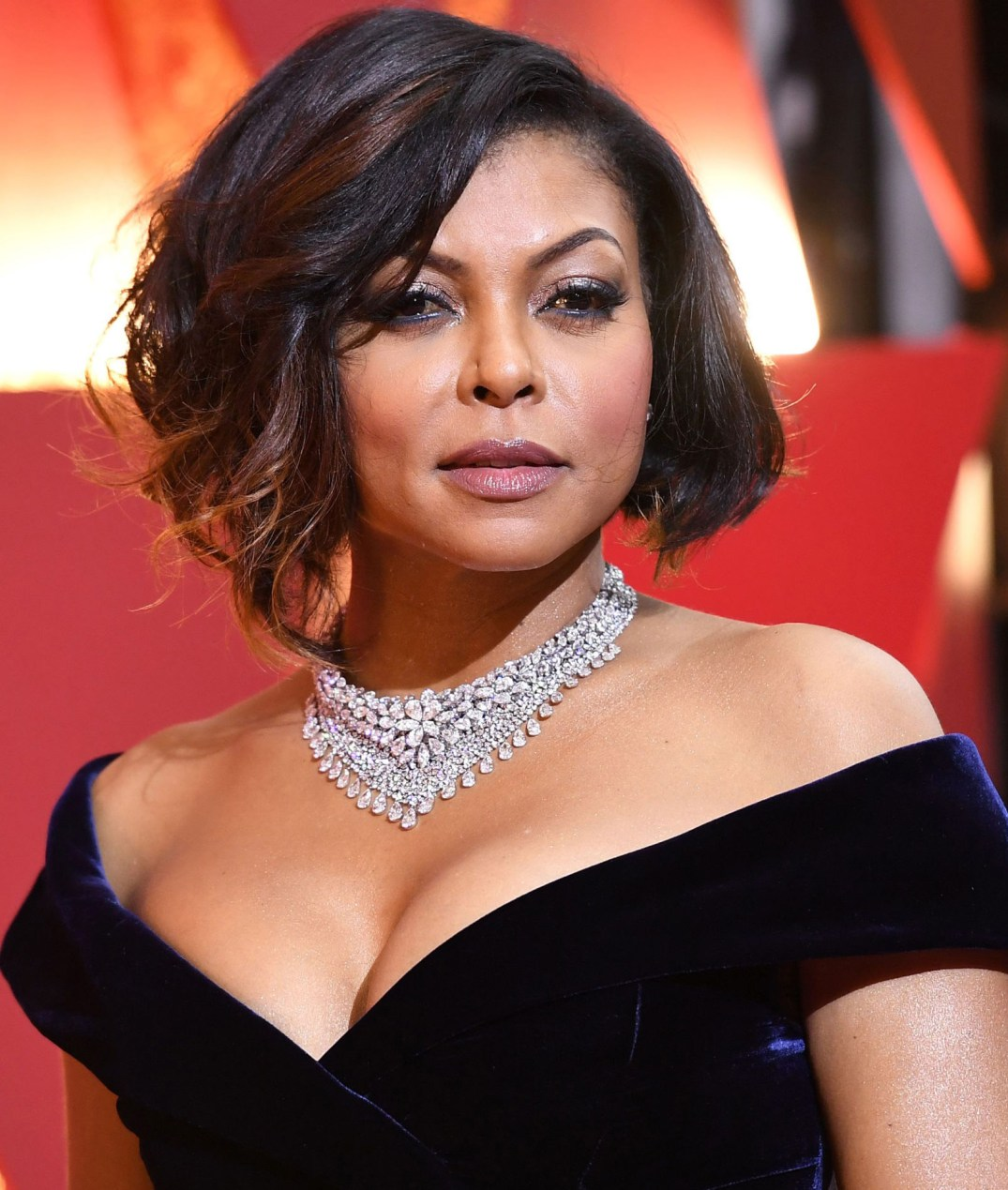 Taraji P. Henson wore a 103 ct diamond necklace from Nirav Modi's Luminance collection. She also wore his Evergreen Emerald Ring, colored stone and diamonds over 8 carats. PC-Harper's Bazaar
