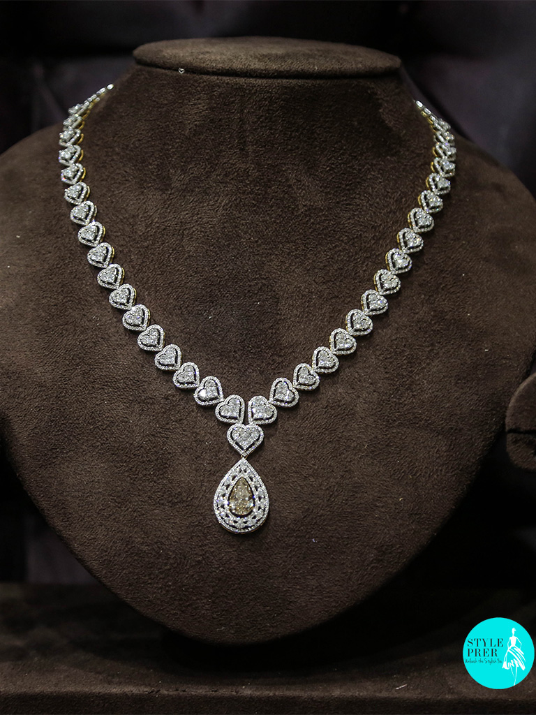 Yellow Diamond And Composite Set Bridal Necklace
