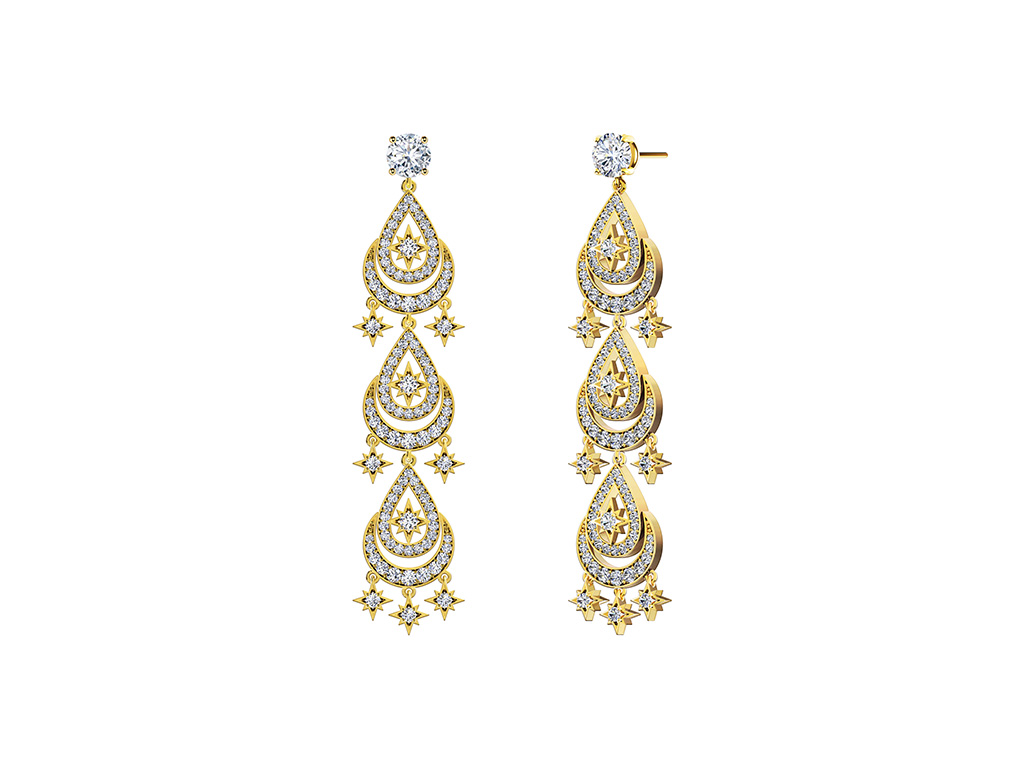 Inspired From The Sun And Stars, Diamond Earring From The Forevermark Artemis Collection