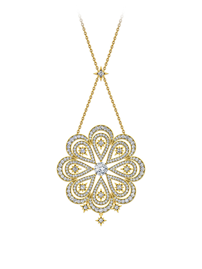 Inspired From The Sun, Diamond Pendant From The Forevermark Artemis Collection