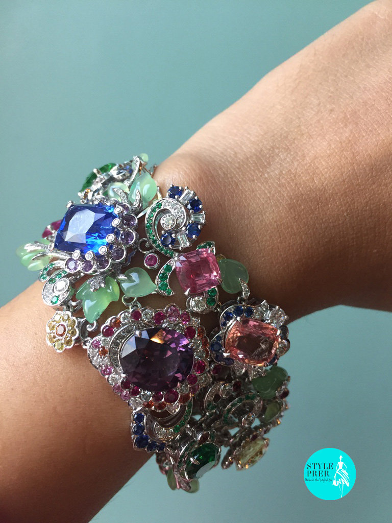 A Bouquet Of Gemstone Bracelet From Fabergé Secret Garden Collection