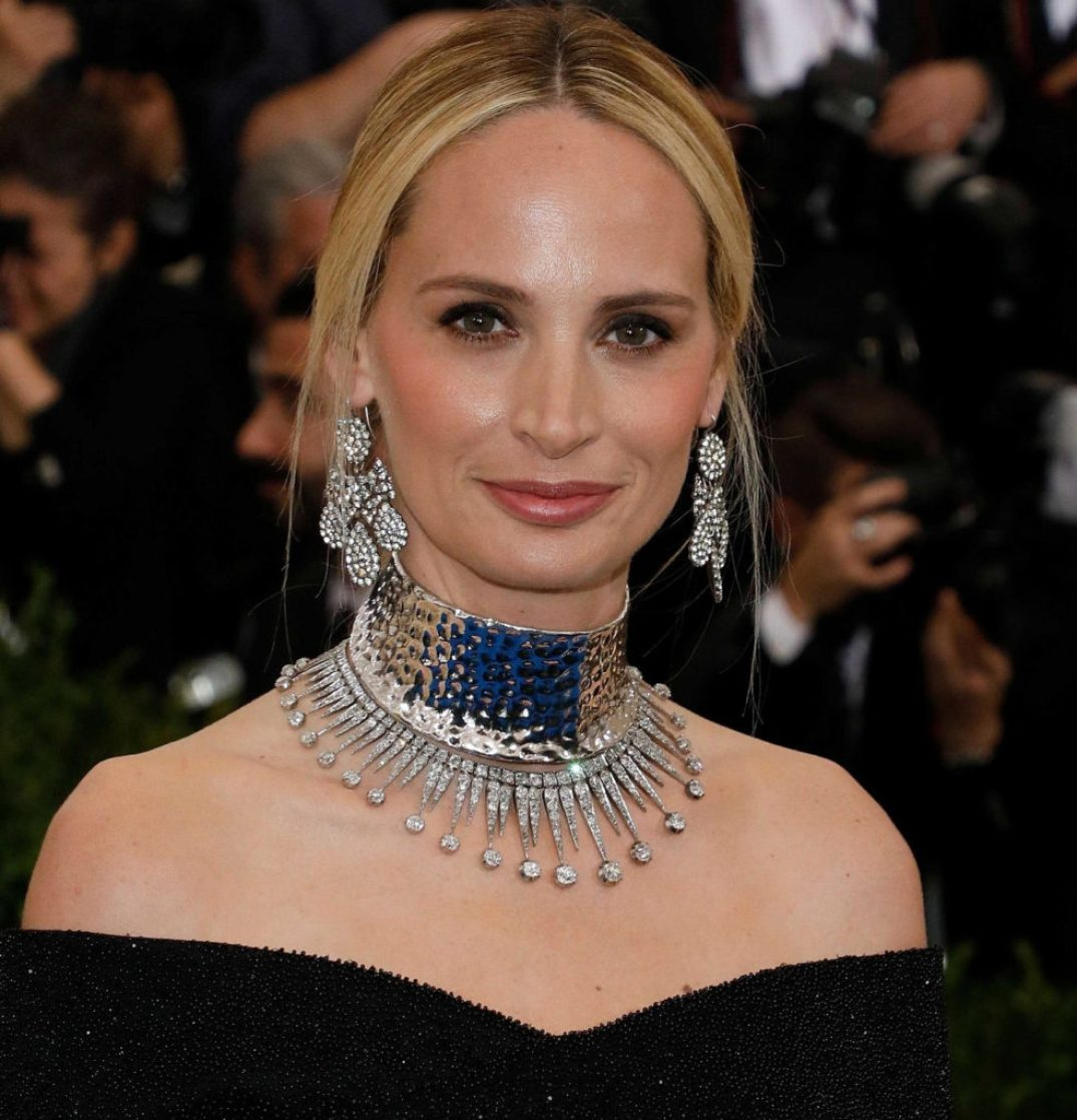 Lauren Santo Domingo In A Diamond Choker & Chandelier Earring. PC- Vogue