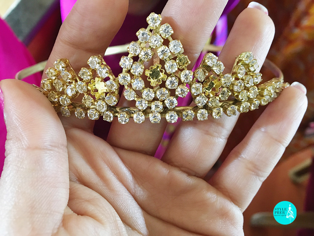 Mukut - Head Ornament (Unfinished) To Be Studded With Stones And Gems Made For Deity By Women Of Project Vanika