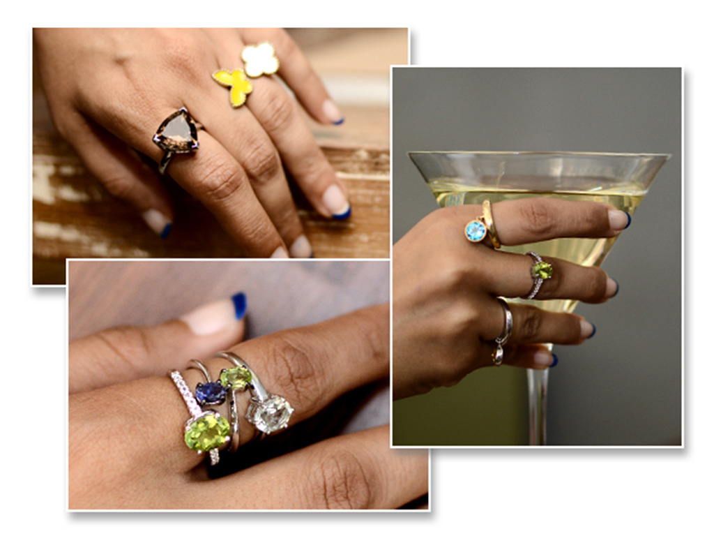 Stackable Rings With Multiple Gemstones From Velvetcase