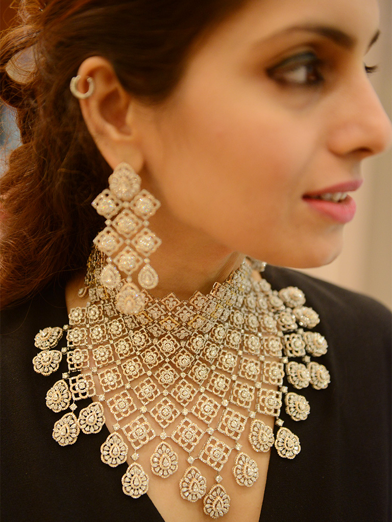 Bridal Diamond Choker By Hazoorilal Legacy