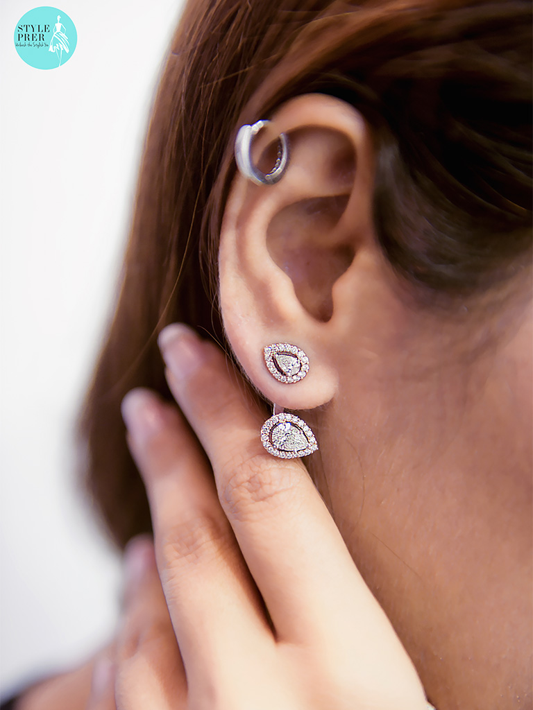 Layered Earrings With Forevermark Diamonds By Rose