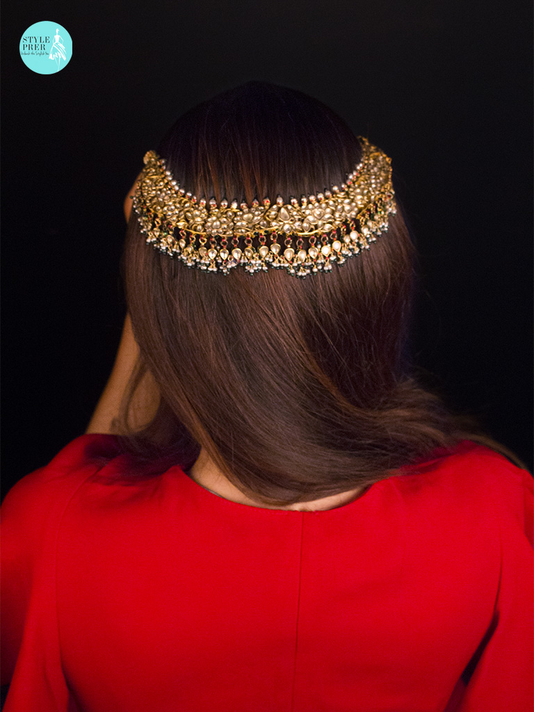 Styling An Antique And Period Jadav And Pukhraj Gemset Necklace Over My Head. Provenance : Royal Family Of Bikaner