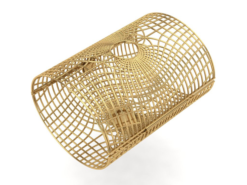 Back View Of The Gold Cuff Inspired From Flow Of Energy