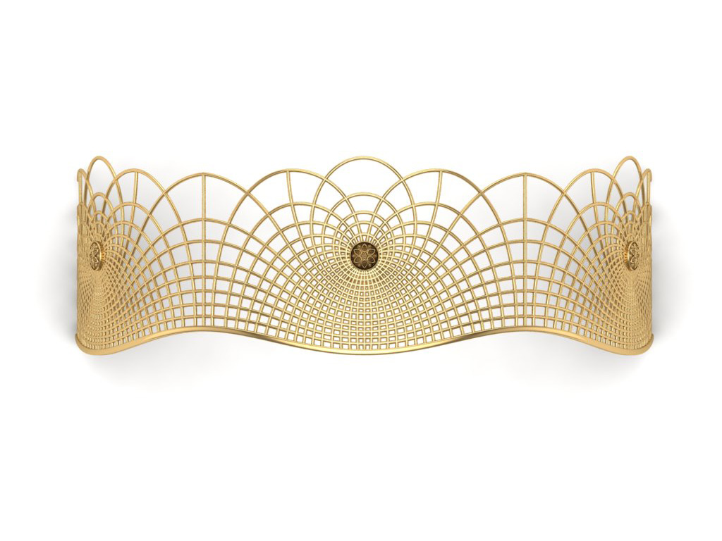 Gold Tiara Inspired From The Flow Of Human Energy
