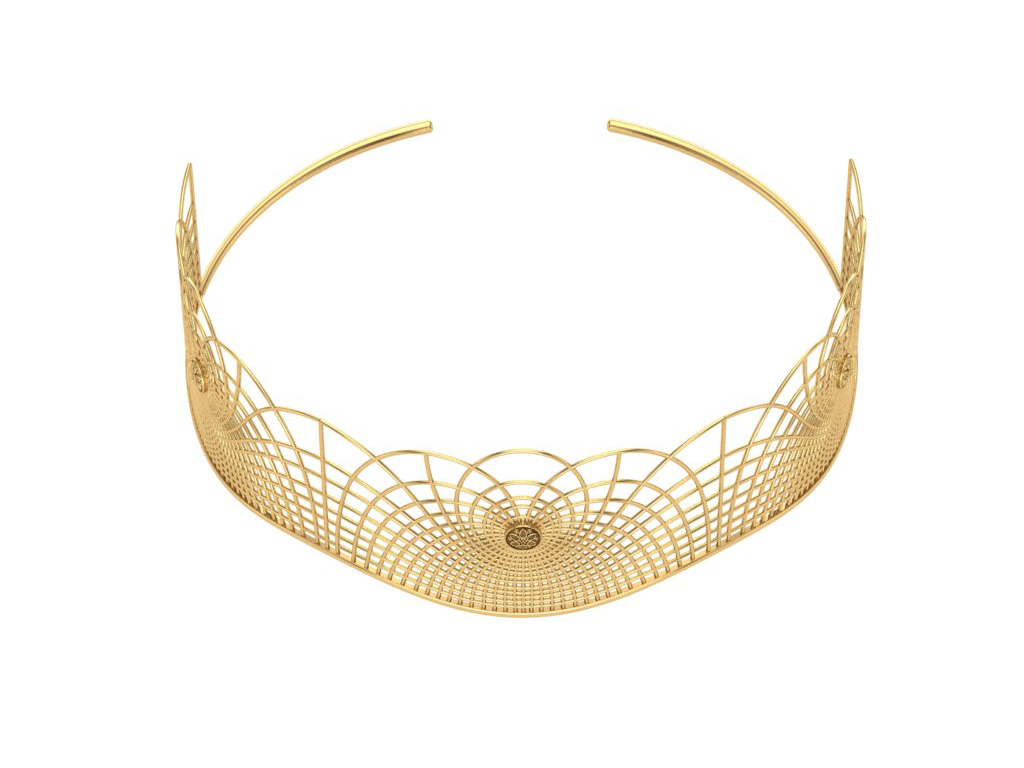 Gold Tiara Inspired From Yoga