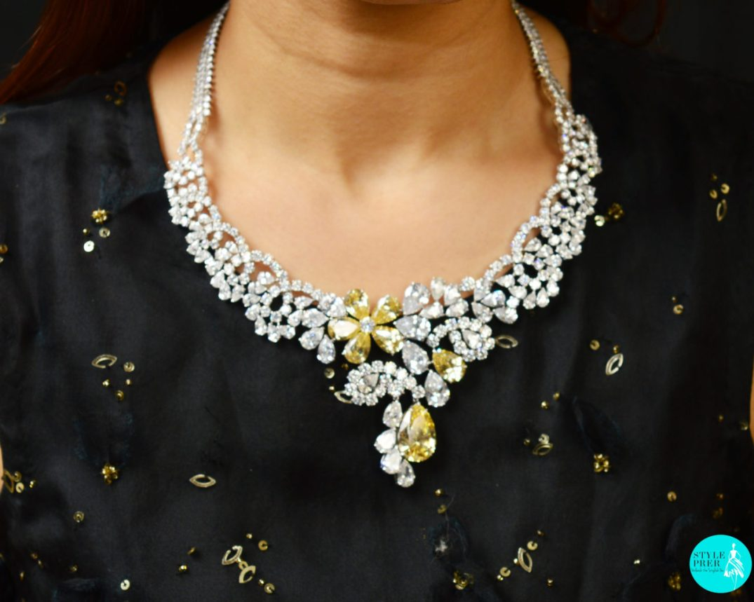For My Little Black Dress I Opted For A Bold Classic Statement Necklace Set By Juwelina Paris Available On Velvetcase. Ensemble - Atelier Shivam