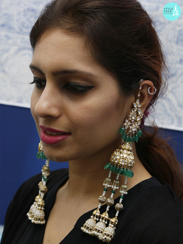Shoulder Dusters With Polki, Emerald And Pearl By Birdhichand Ghanshyamdas Jewellers