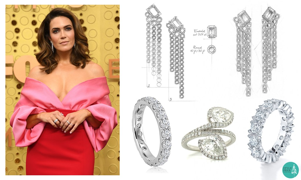 Mandy Moore wearing Forevermark Diamond Jewellery at Emmy Awards 2019