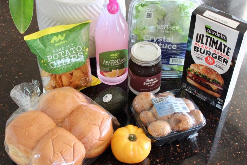 Vegetarian BBQ ingredients from Foodland Kahala MKT.