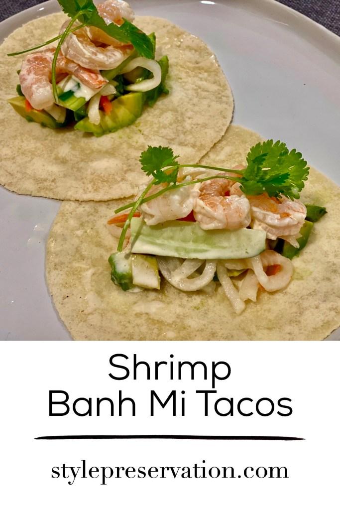 shrimp banh mi tacos title picture