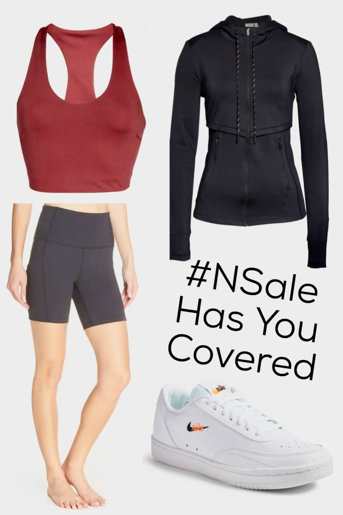 Women's athletic outfit from Nordstrom Anniversary Sale