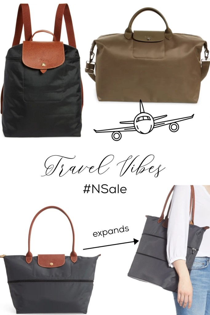 Longchamp travel bags from Nordstrom Anniversary Sale