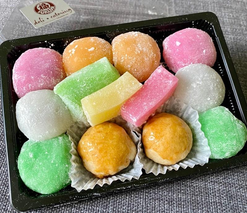 Fukuya mochi with chichi dango, an mochi, and manju,