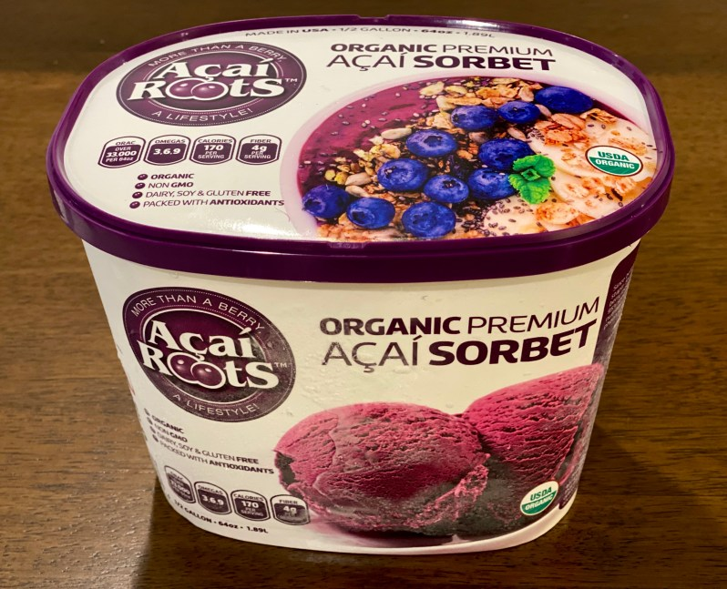 Acai Roots Acai Sorbet purchased at Costco