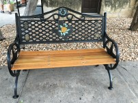 A sweet Texas-style bench