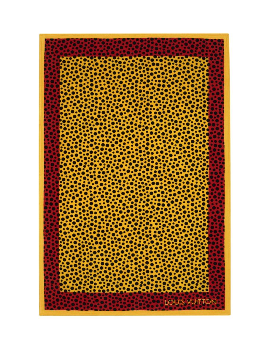 Yayoi Kusama Louis Vuitton Beach Towel Dots Infinity yellow
