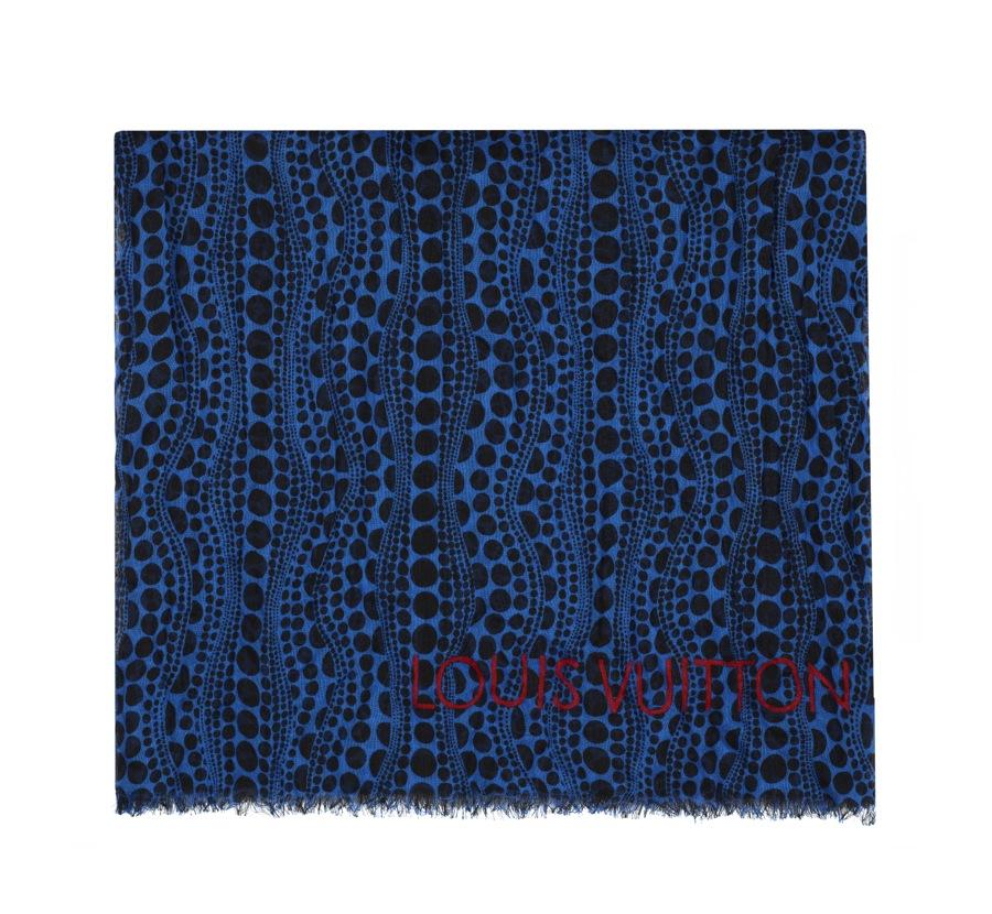 Yayoi Kusama Louis Vuitton Stole Pumpkin Dots blue