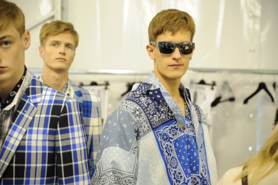 Backstage at the Louis Vuitton Men Spring Summer 2014 Show 14