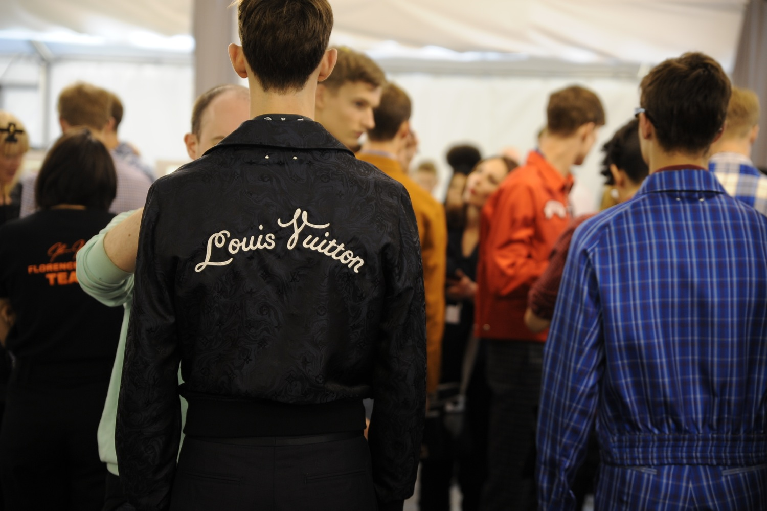 Backstage at the Louis Vuitton Men Spring Summer 2014 Show 15