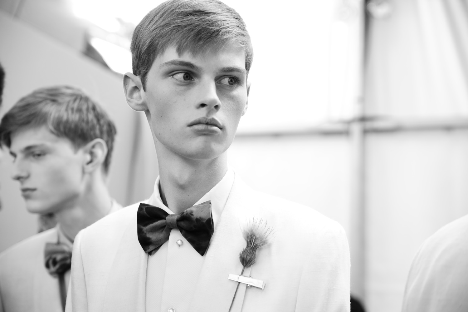 Backstage at the Louis Vuitton Men Spring Summer 2014 Show 19