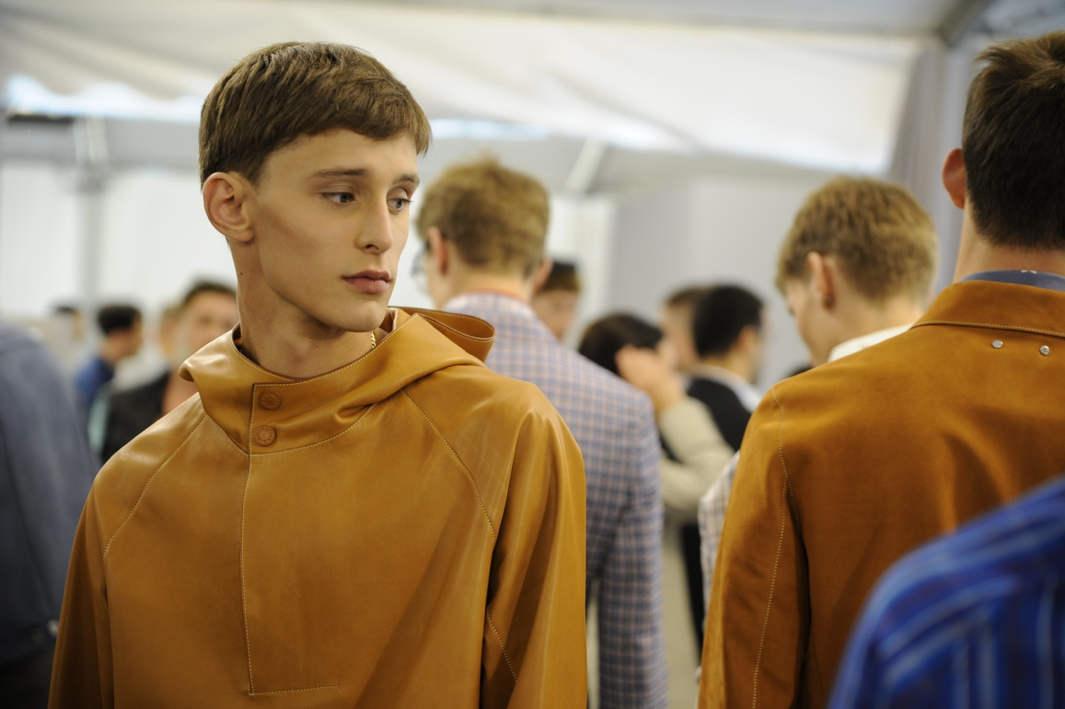 Backstage at the Louis Vuitton Men Spring Summer 2014 Show 2