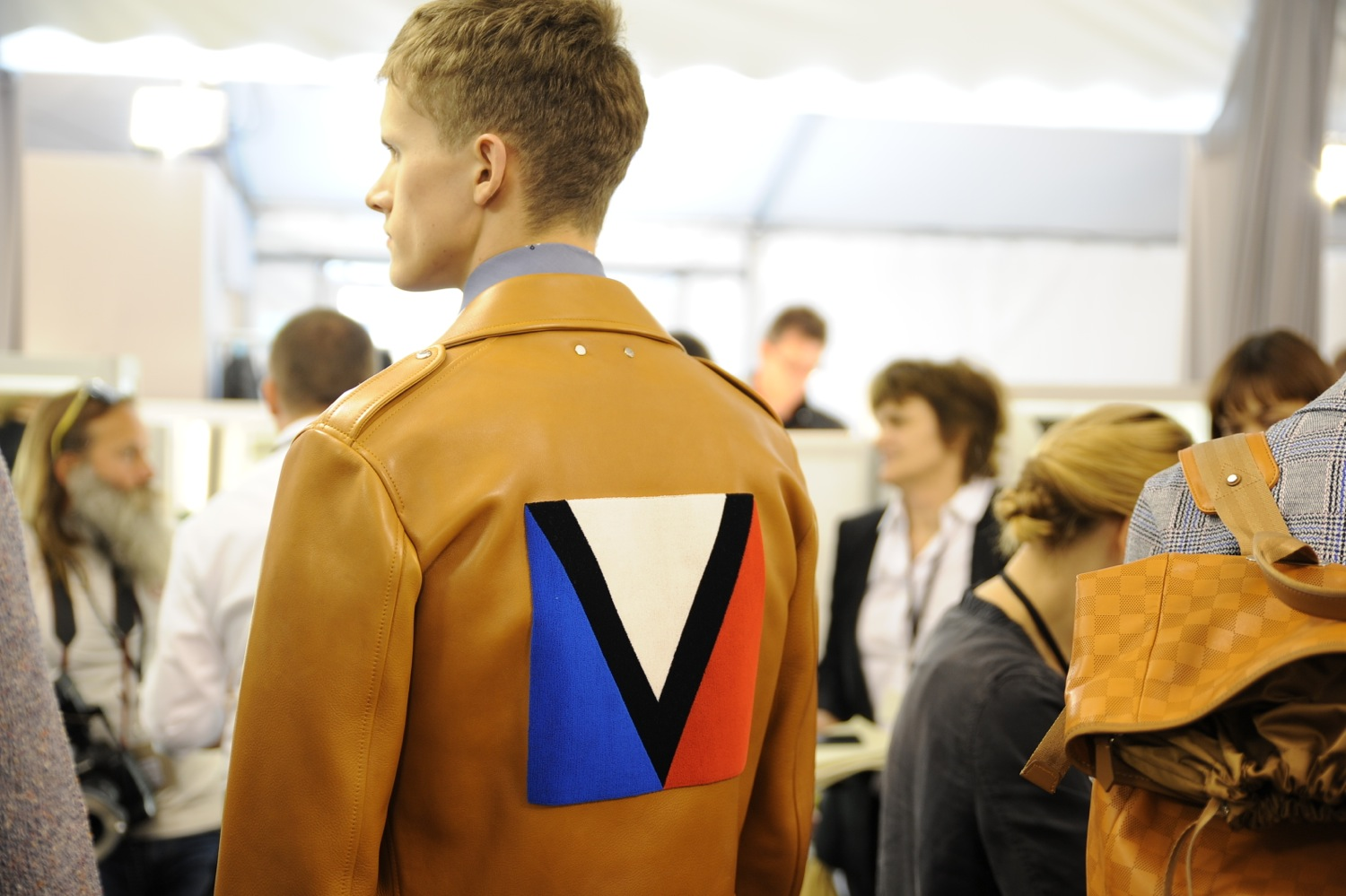 Backstage at the Louis Vuitton Men Spring Summer 2014 Show 3