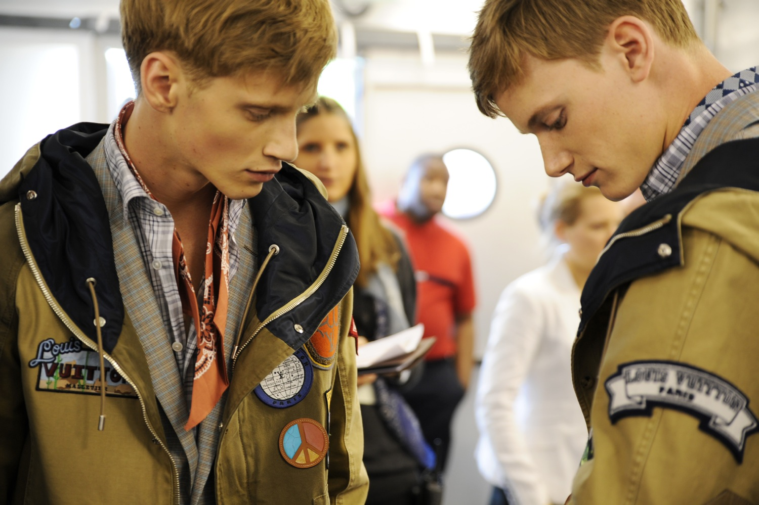 Backstage at the Louis Vuitton Men Spring Summer 2014 Show 5