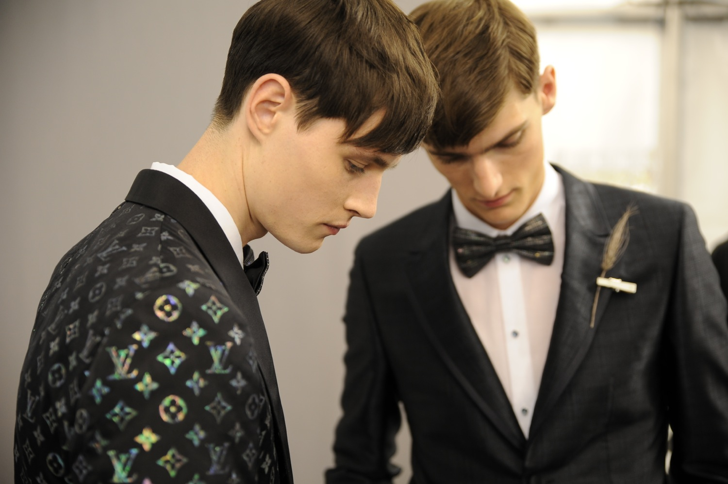 Backstage at the Louis Vuitton Men Spring Summer 2014 Show 6