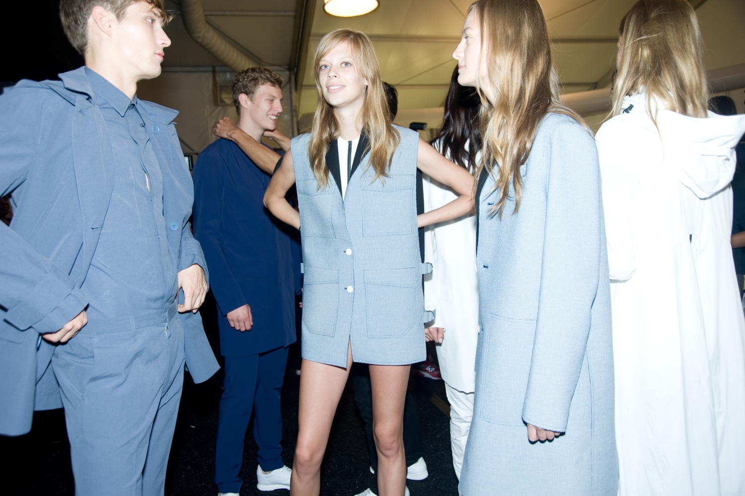 Backstage at the Lacoste Spring Summer 2015 Show 1