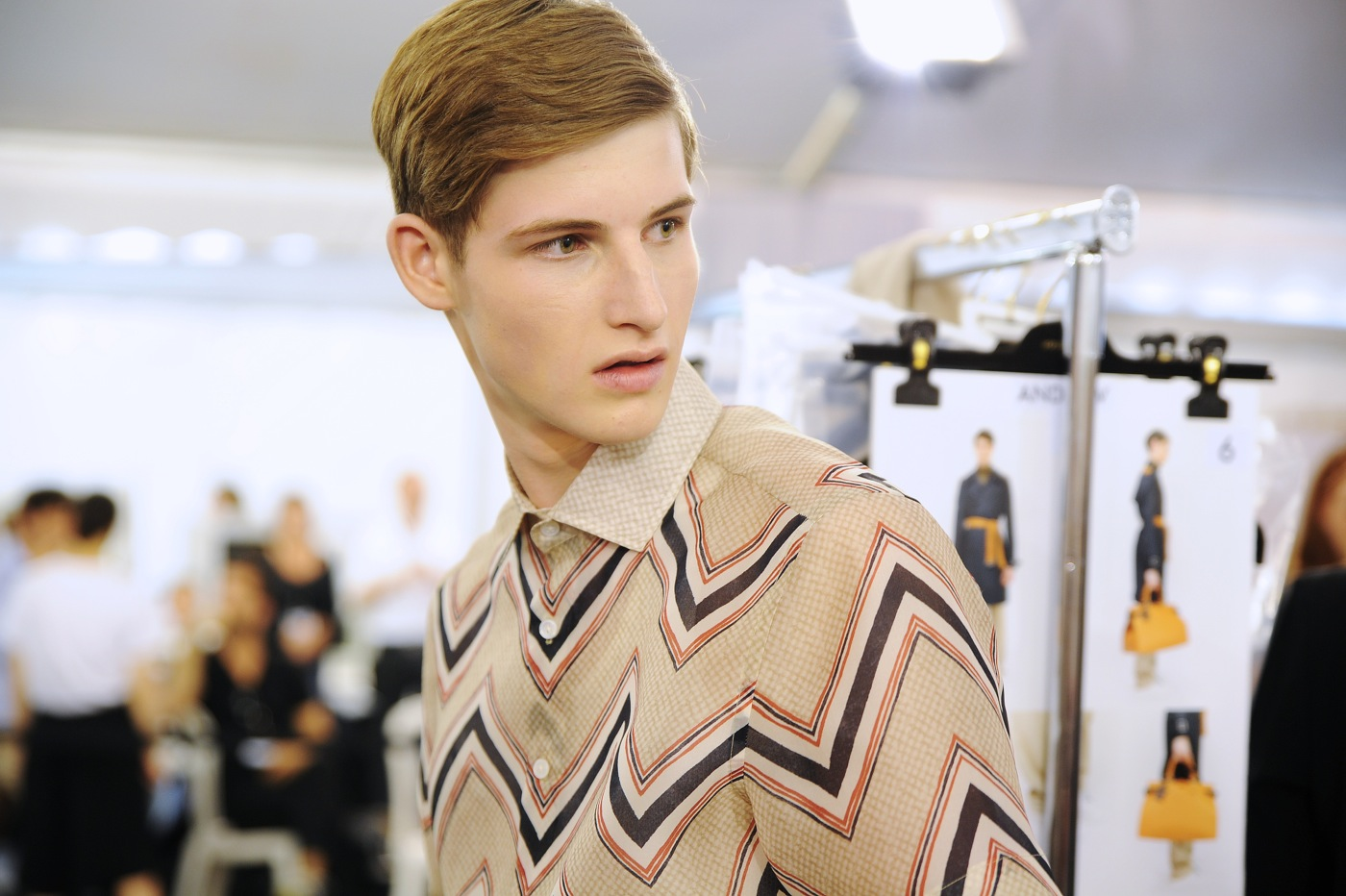 Backstage at the Louis Vuitton Menswear Spring 2015 Show 22