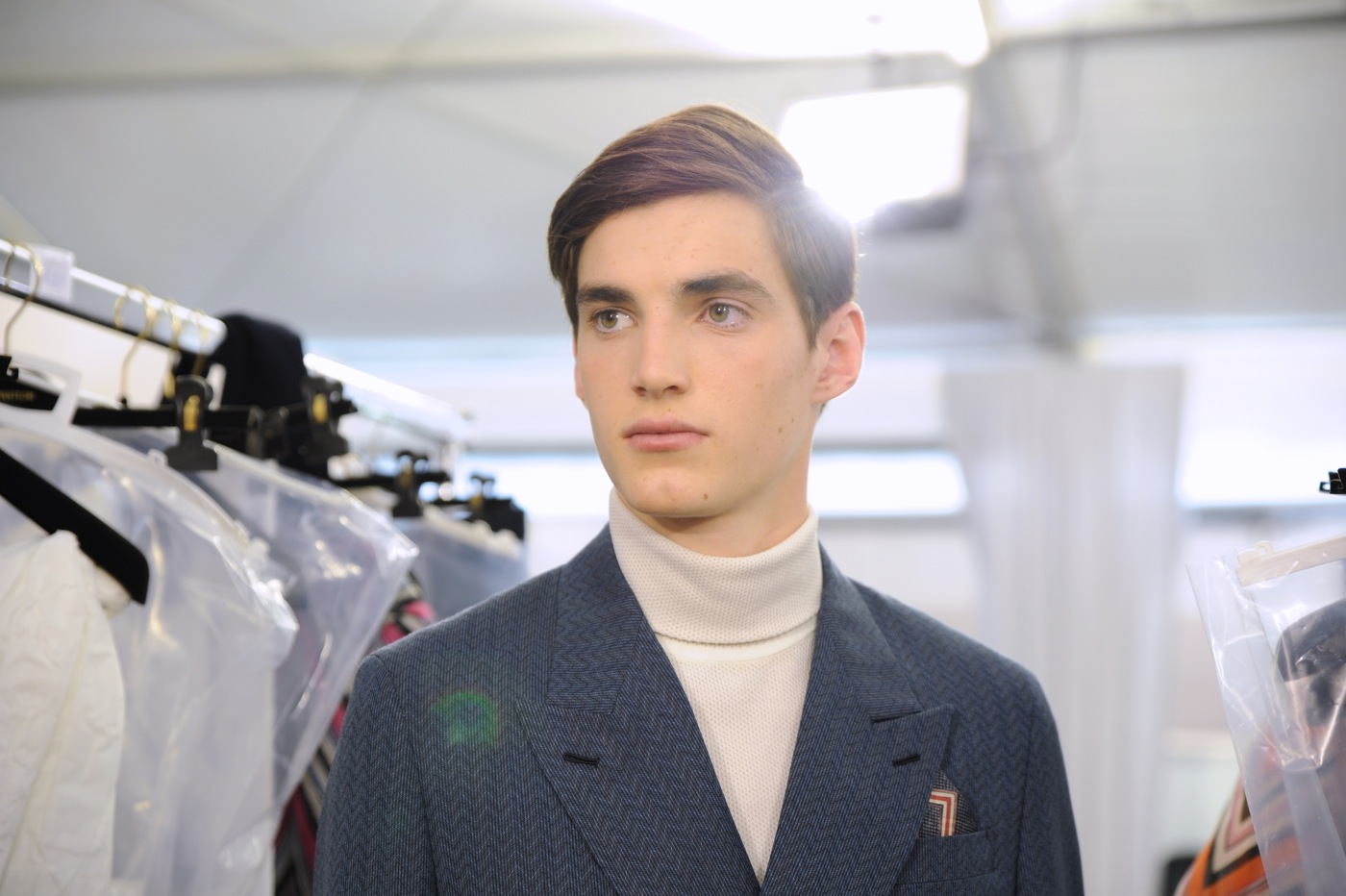 Backstage at the Louis Vuitton Menswear Spring 2015 Show 23